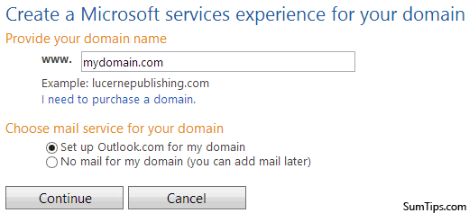 Add Domain Outlook.com