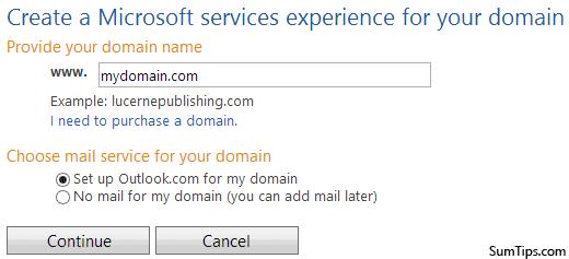 Add Domain Outlook.com