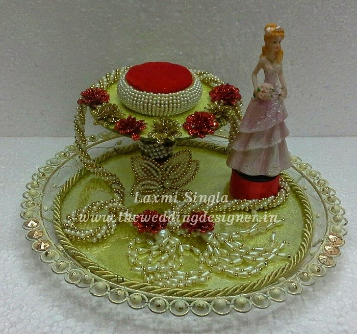 Indian Wedding Tray Decoration: Ring Ceremony Tray Decoration Ideas