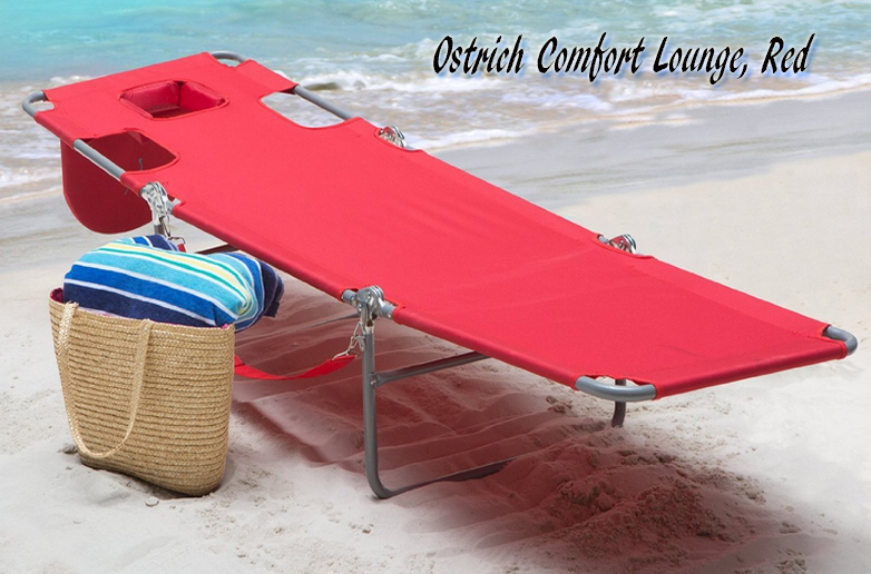 Red Ostrich Chaise Lounge, Ostrich Beach Chair, Ostrich Chaise, Ostrich  Folding Chaise Chairs, Beach chairs, Folding Beach Chairs, Ostrich Beach Folding Chair, Patio Furniture, Outdoor Furniture,