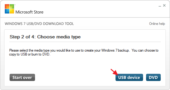 Select USB device if you want to install windows from USB device.