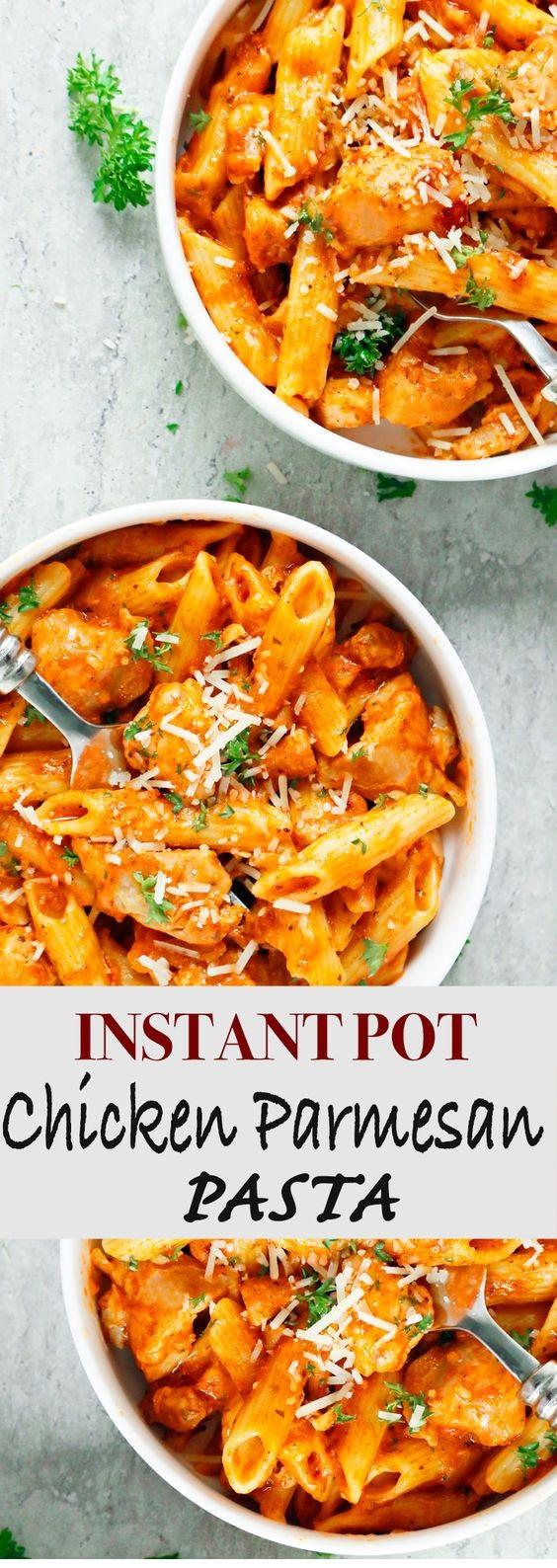 Instant Pot Chicken Parmesan Pasta