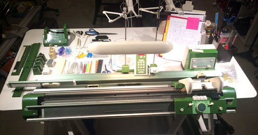 Superba Knitting™: Where I Knit: My Knitting Studio Featuring My Superba S48 Double Bed Knitting Machine.