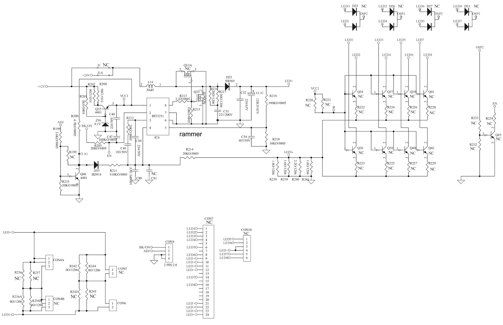 Schematic Diagrams: MP123T-CH SMPS Schematics