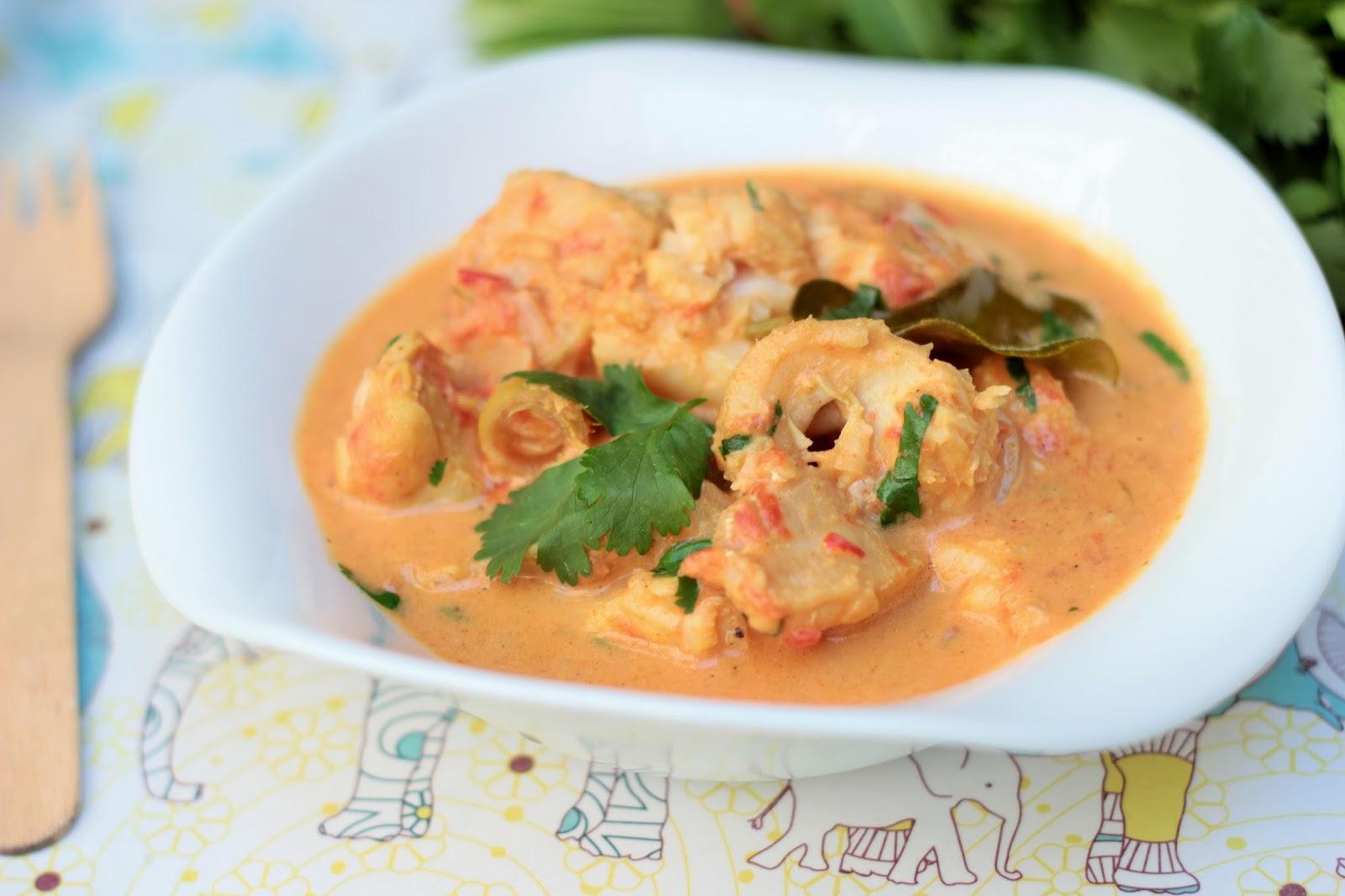 Curry de poisson coco tomates et coriandre camelie - Cuisiner le dos de cabillaud a la poele ...