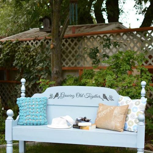Outdoor Garden Headboard Bench For Two