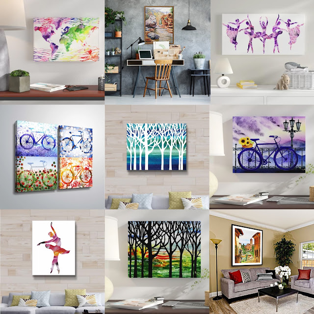 Paintings for Home Decor in Interior Artist Irina Sztukowski