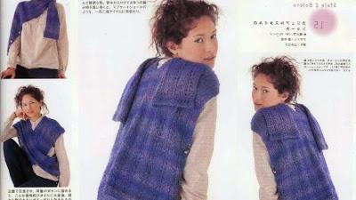 Estola-Bolero tranformable de crochet patron