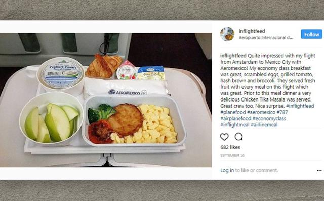 Menu Makanan di dalam Pesawat Aeromexico