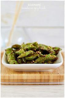 Edamame sazonadas con soja y kimchi decorecetas verdura salteado