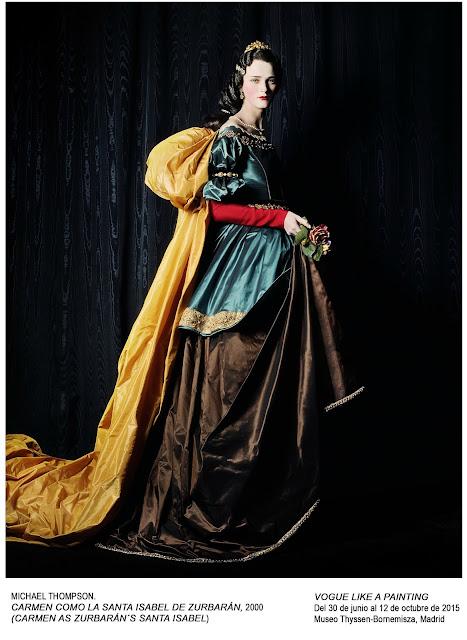 Carmen como la Santa Isabel de Zurbarán, Michael Thompson