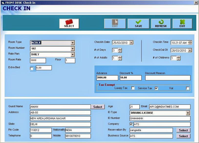 ATSFrontDesk Hotel Management Software | Hotel Software
