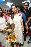 Samantha Ruth Prabhu Smiling Beauty in White Dress Launches VCare Clinic 15 June 2017 073.JPG
