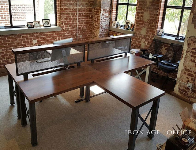 best buy industrial style office furniture sets for sale