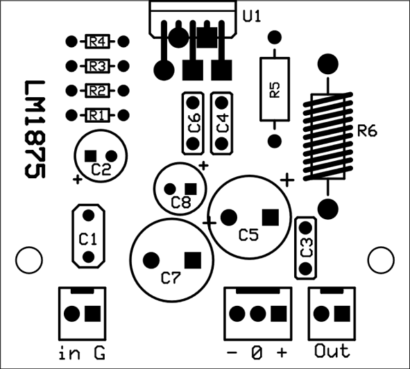 PCB. component layout