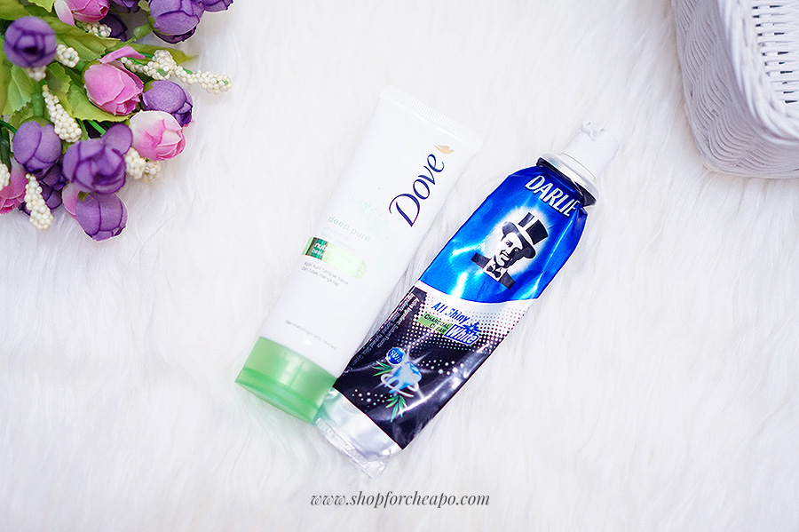 dove pure facial foam darlie all shiny white charcoal