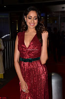 Pragya Jaiswal stunning Smiling Beauty in Deep neck sleeveless Maroon Gown at 64th Jio Filmfare Awards South 2017 ~  Exclusive 008.JPG