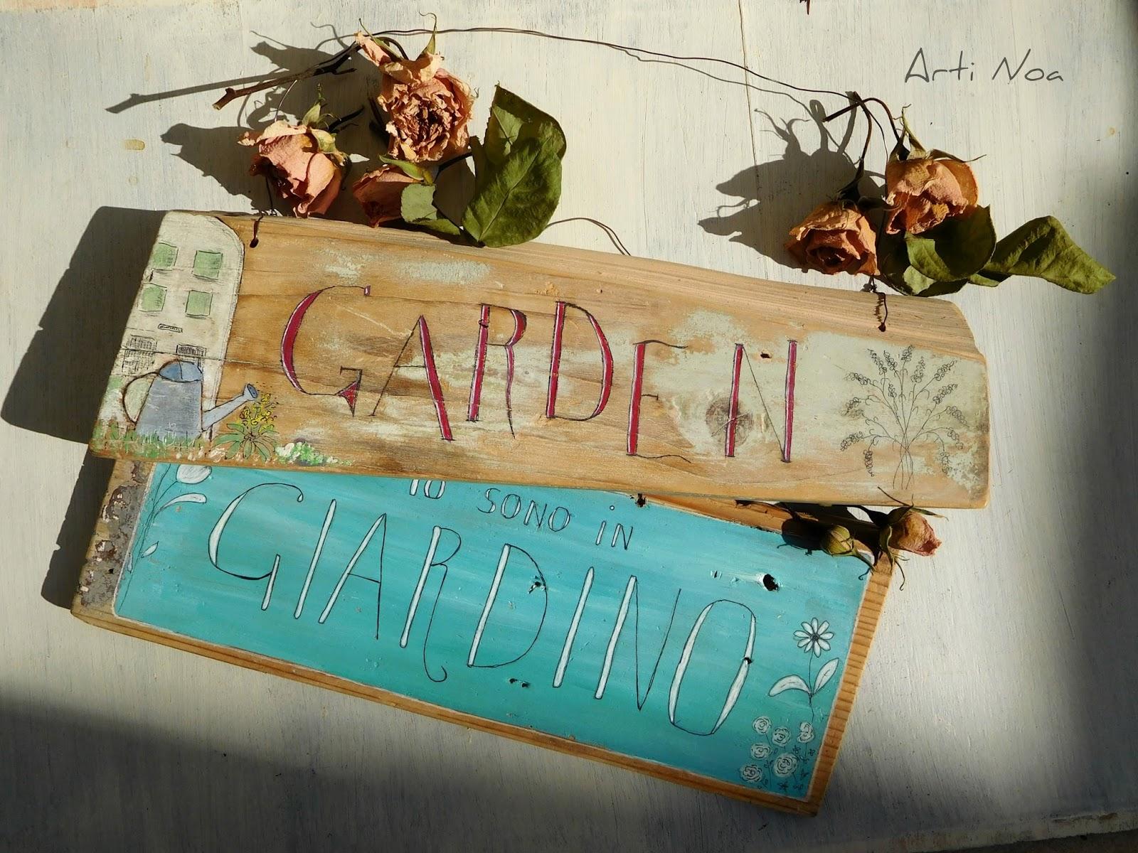 Decorazioni In Legno Per Giardino : Decori in giardino le targhe in legno arti noa by delia