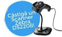 Castiga un scanner Zebra DS2208