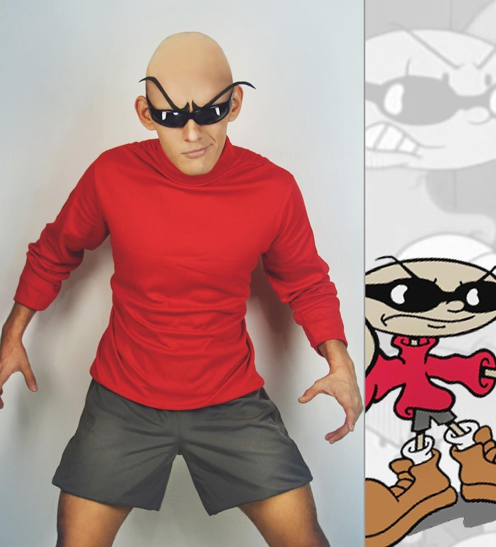 09-Codename-Kids-Next-Door-Nigel-Numbuh-Jonathan-Stryker-Body-Paint-Cosplay-Transforms-into-Animations-and-Cartoons-www-designstack-co