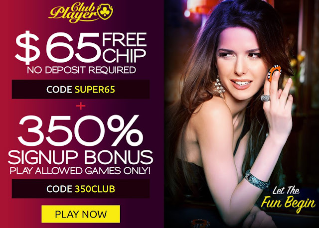 Club Player Casino: get 350% Welcome Bonus for Video poker and other games and $65 FREE