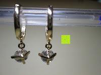 Rückseite: Fashmond Creolen Ohrschmuck aus Legierung Gemischte Metalle Für Jeden Anlass