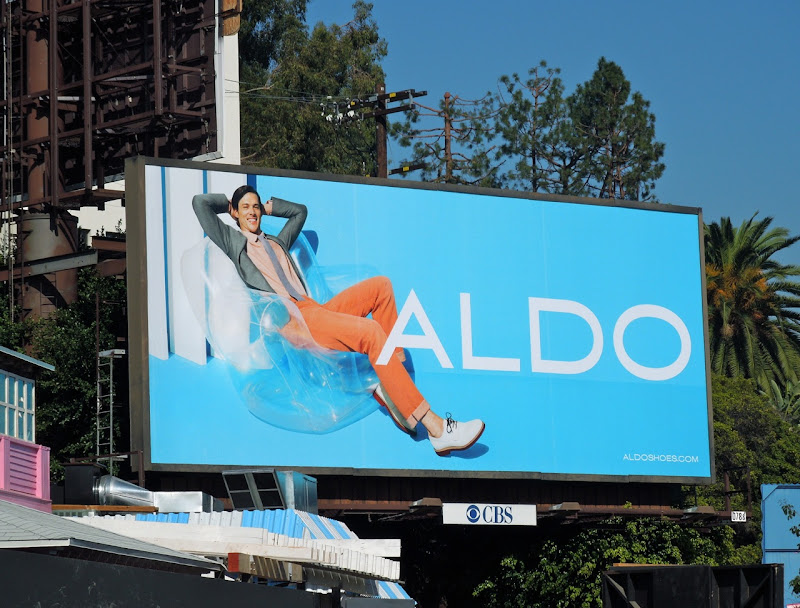 Aldo inflatable chair billboard