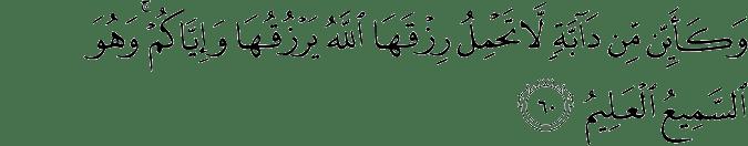 Surat Al 'Ankabut Ayat 60