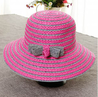 Ladies Striped Straw Hats Online