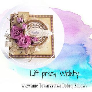 Lift kartki Wioletty