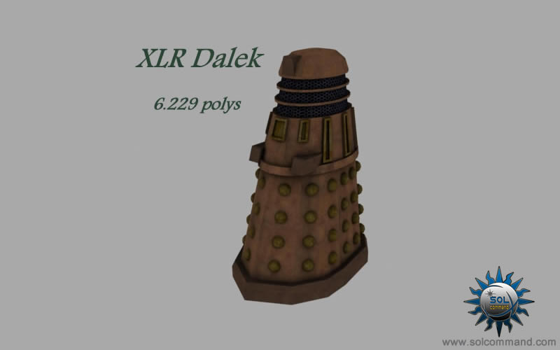 Dalek 3d model free download low polyalien extraterrestrial mutant doctor who skaro davros time lords exterminate concept art