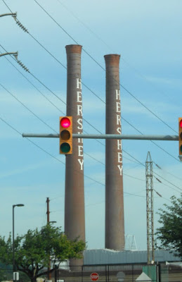 Chocolate Factory Smoke Stacks in Hershey Pennsylvania