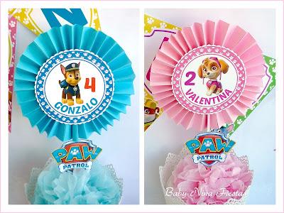 kit personalizado hermanos niño y niña patrulla canina
