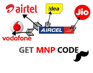 aircel network change mnp upc code port to other network jio airtel vodafone idea