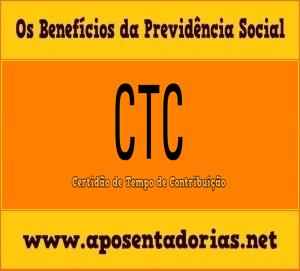Certidão de Tempo de Contribuição na Previdência Social.