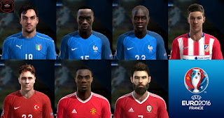 Facepack Euro 2016 + Extra Faces Pes 2013 by Bruno7