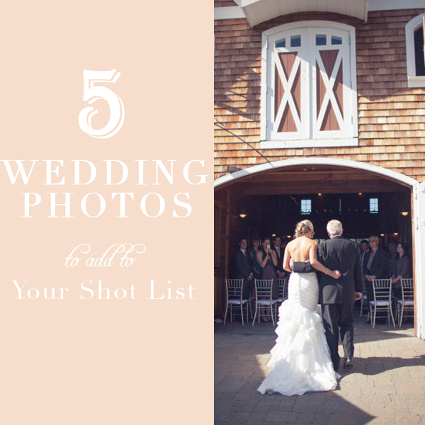 five wedding photos to add to your shot list