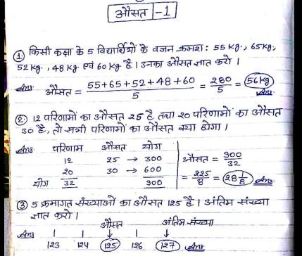 SSC Mathematics Handwritten Class Notes