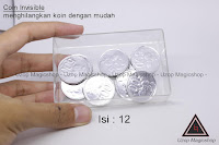 Jual alat sulap Coin Invisible Rupiah