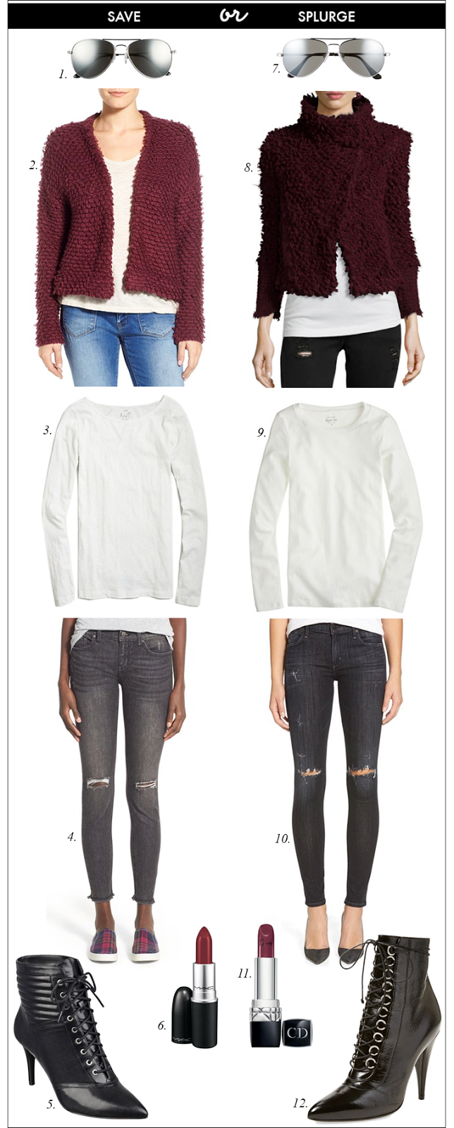 how to style grey jeans, shaggy sweater, lace up booties, distressed jeans, j. crew