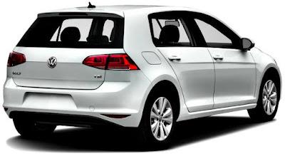 Volkswagen Golf TSI 2017 detrás blanco