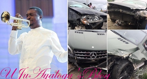 Nathaniel Bassey survives ghastly car accident without a scratch!