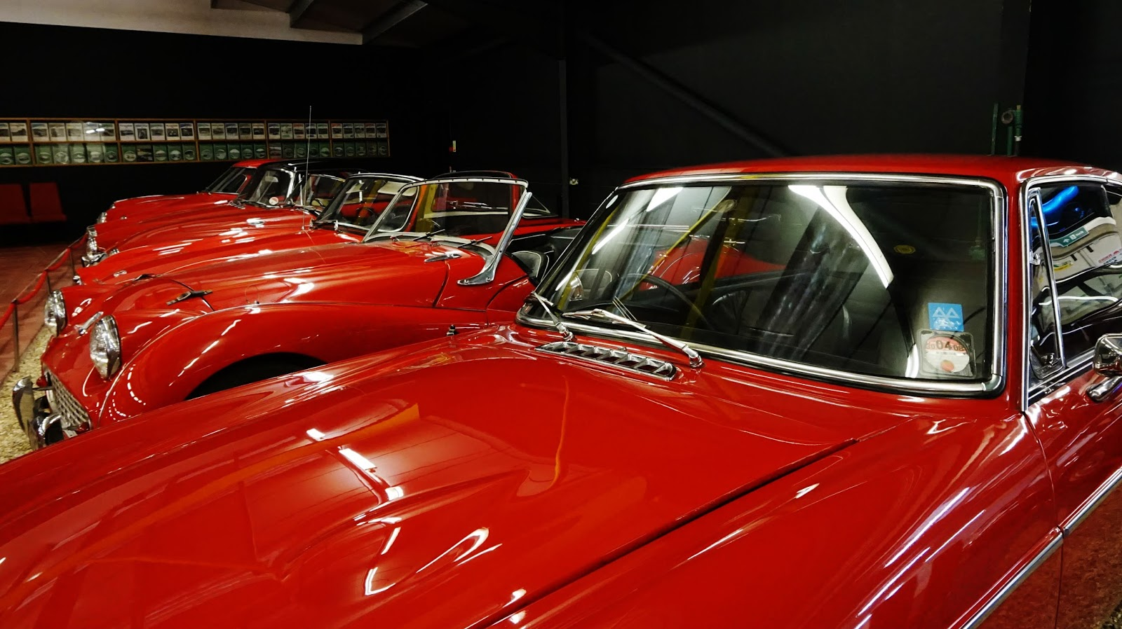 classic cars red room sports car nostalgic haynes motor museum