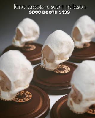 San Diego Comic-Con 2016 Exclusive Cyclops Wool Skulls by Lana Crooks x Scott Tolleson