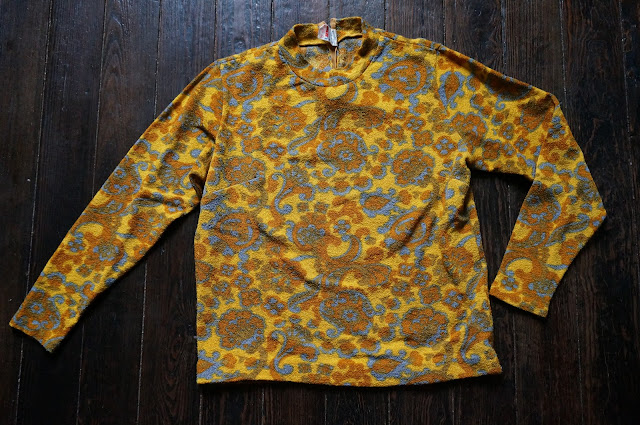 vintage terrycloth sweater abstract pull eponge annees 60 70 60s 70s 1960s 1970s