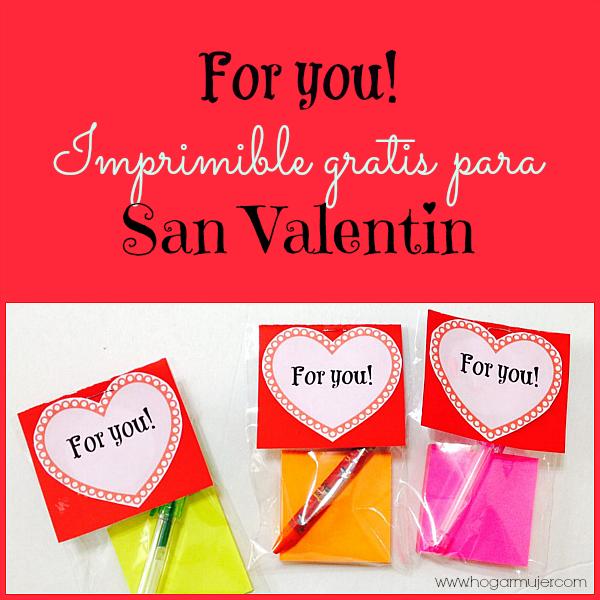 #hogarmujer #SanValentín #Valentine #freeprintable