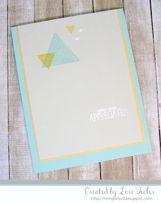 You Are Appreciated card-designed by Lori Tecler/Inking Aloud-stamps from Altenew