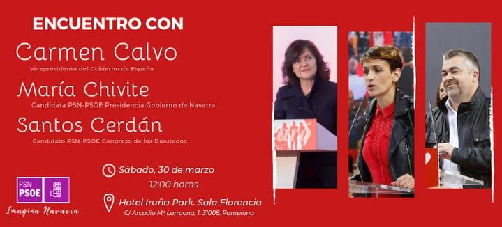 Encuentro con Carmen Calvo en Pamplona