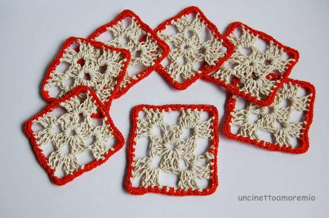 sottobicchieri corda crochet