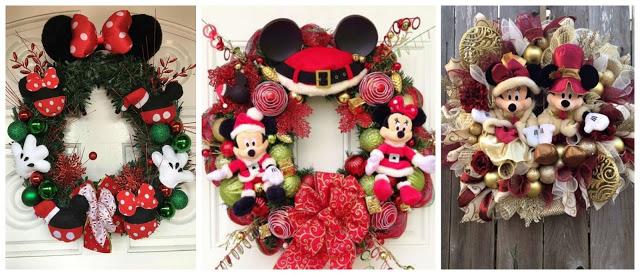 coronas-navideñas-temática-muñeco-mickie-mouse